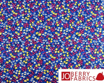 Bright Floral Fabric, Calico Traditions by Choice, Quilt or Craft Fabric, Fabric by the Yard