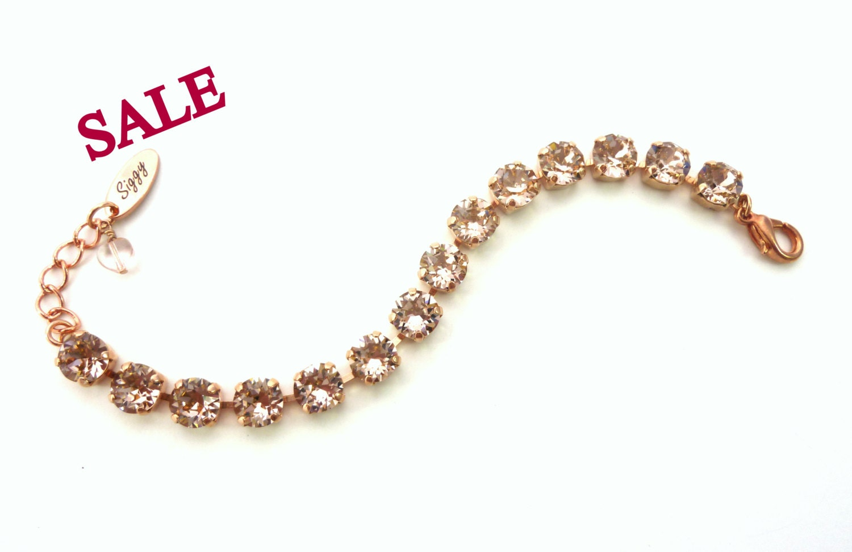 on sale swarovski crystal tennis bracelet select your color. Black Bedroom Furniture Sets. Home Design Ideas