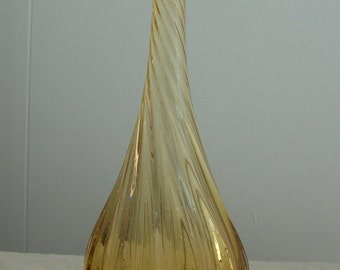 Twisted Neck Vase in a Golden Yellow