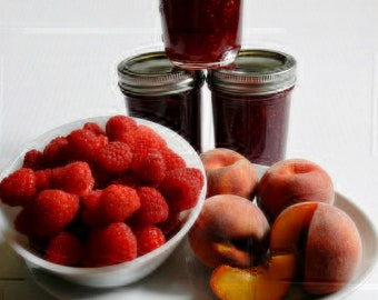 Raspberry and Peach Jam