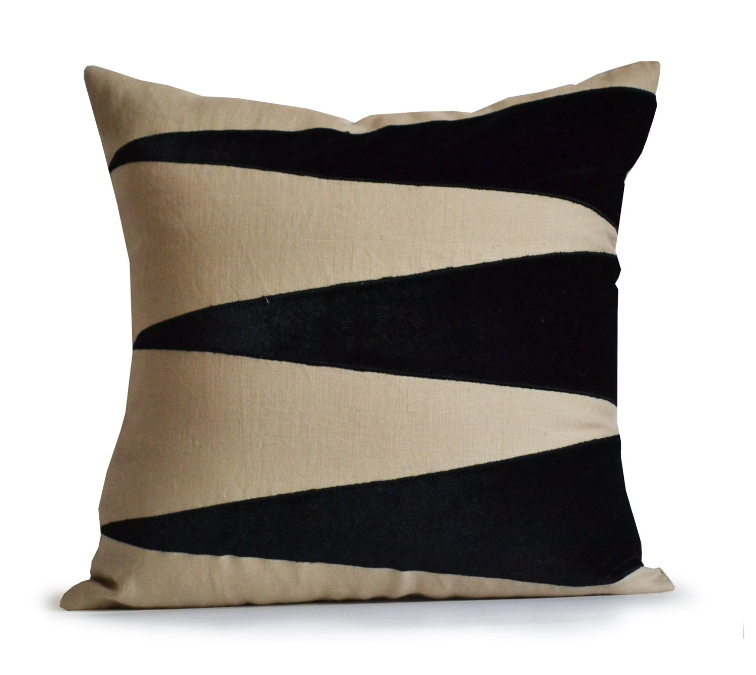 Decorative throw linen pillow cover applique velvet pillow - Decorative throw pillows ...