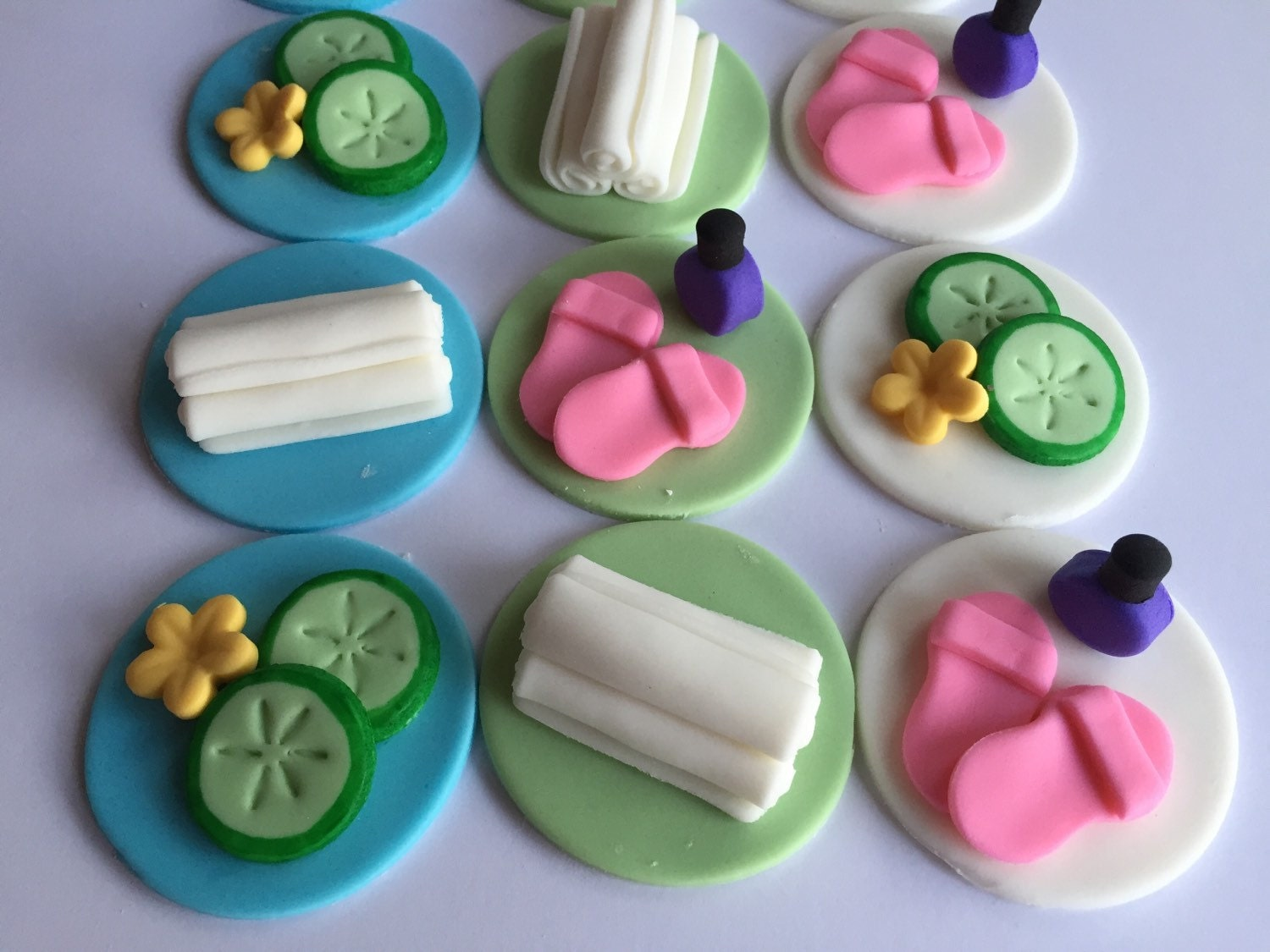 fondant cupcake toppers etsy
