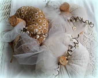 Fabric Pumpkins, Shabby Chic, Fall Decor, Thanksgiving, Halloween, Home Decor
