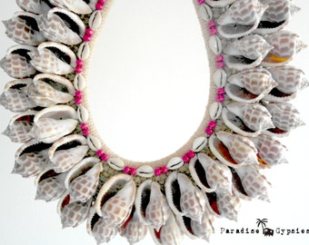 Ocean Shell Double Layer Tribal Necklace