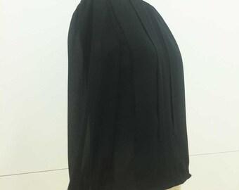 Vintage 80s Black Sheer Blouse by Joseph III