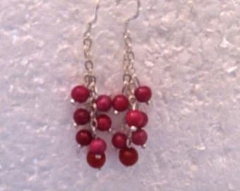 Ruby & Sterling Silver Earrings E180