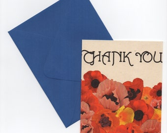 Thank You // Poppy Recycled Paper Card