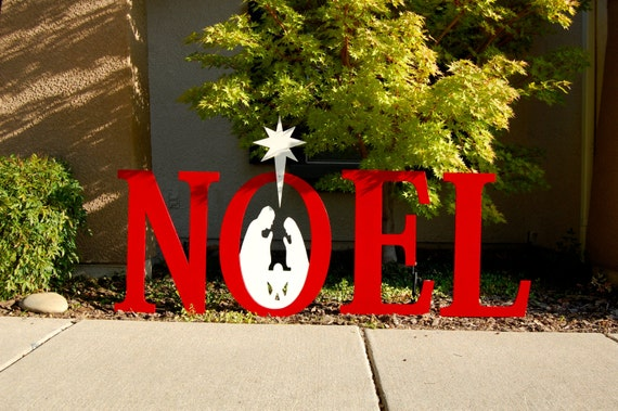 Noel nativity wood christmas lawn decoration by for Baby jesus lawn decoration
