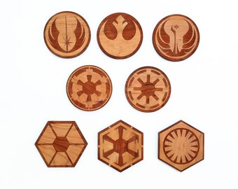 8pc. Laser Cut Star Wars Coasters