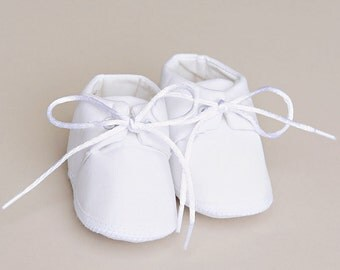 Boy's Satin Christening, Baptism or Blessing Shoes