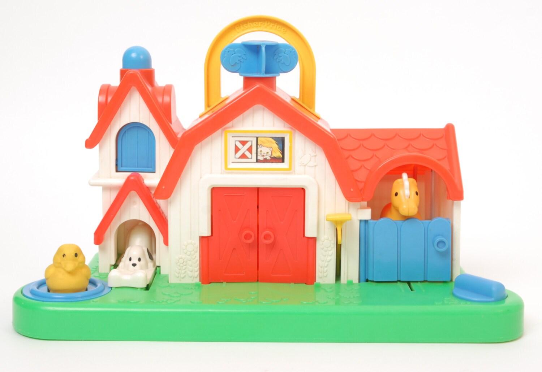 1987 difice de ferme fisher price jouet avec bruit. Black Bedroom Furniture Sets. Home Design Ideas