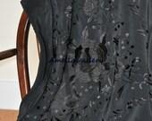 Hand Embroidered silk flamenco spanish dance wear triangle piano shawl - 8 colours