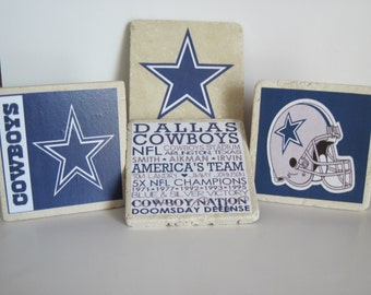 Dallas Cowboys Football Coasters - Set of 4