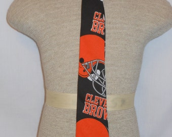 Cleveland Browns Necktie, for men and boys of all ages, Browns Football Necktie, Sports Fans Necktie, Custom Boutique, Unique, Handmade Tie
