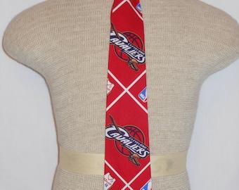 Necktie, Cleveland Cavaliers Necktie, For Men and Boys of all ages, Cleveland Cavaliers Basketball Necktie Unique Handmade, Host Necktie