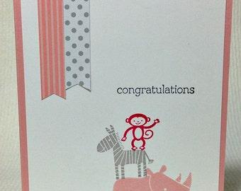 Handmade Baby Card Baby Boy Card Baby Girl Card Gender Neutral Baby Card