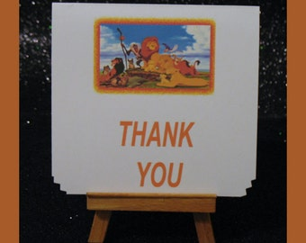 Lion King cards , Lion King thank you card, LIon King invitation card package of 10
