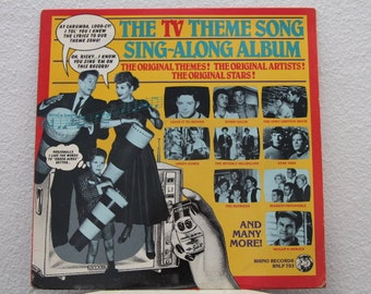TV Theme Song Sing - Along vinyl record album (NT)