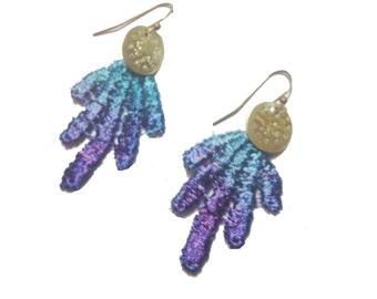SALE- DAISY DAYS Lace Earrings in Reflection