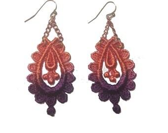 SALE- VENUS in FURS- Lace Earrings- Heirloom
