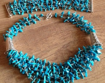 Turquoise Jewelry Necklace And Bracelet