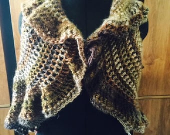 Crocheted Circle Bolero Vest