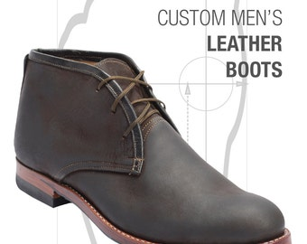 Atitlan Leather Custom Men's Leather Boots, Shoes