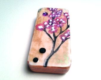 Cherry Blossom Domino Magnet