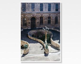 Paris Print, Paris Photography, Louvre Staircase, Parisian Architecture, French Decor, Paris Photo Print, Paris Wall Art, Architecture Print
