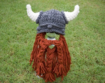 Viking Hat Beard, Crochet Pattern, Baby, Adult, Child, Knight, Dwarf, Lord Rings, Hobbit, Stoic, Astrid, Dragon Gimli Child Costume Boy Girl