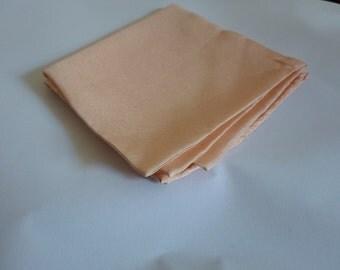Vintage peach handkerchief