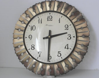 clock richter west german brass sunburst clock timeless decoration and gift idea