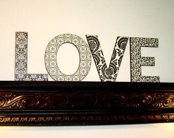 LOVE letters home decor, Wall letters, Housewarming gift, Shabby chic decor