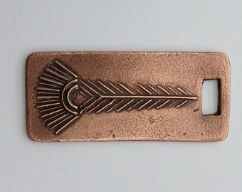 Pendant Copper - Feather (H195-1)