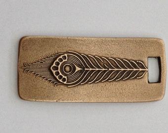 Pendant Bronze - Feather (H209)