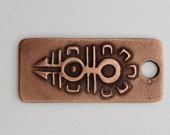 Pendant Copper - Mexican Symbol (H196)