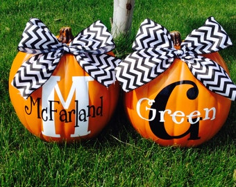 Personalized Pumpkin Decor! Super cute Fall decoration!