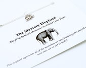 Necklace: Set of 2 Memory Elephant Necklaces! Best Friend Set of Necklaces! BFF Necklaces. Silver Plated Charm Necklace! Bridesmaid Gift!