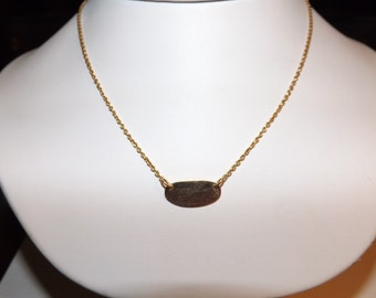 18k Yellow Gold Vintage Tag Italy Necklace-On Sale Now!!