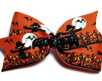 Dog hair bows, dog bows, Haloween hair bow, toddler hair bow, headband