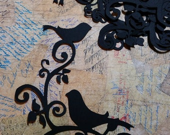 Decorative Birds Corners  Scrapbooking, Embellishments.  #VB-15