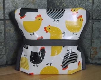 Fabric sandwich bag, reusable, chicken print