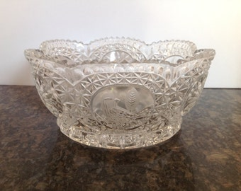 Hofbauer Byrdes Collection Crystal Serving Bowl