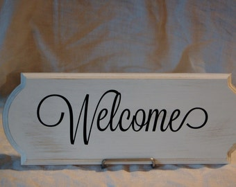 Distressed Welcome Sign