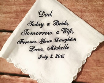 custom poem wedding handkerchief