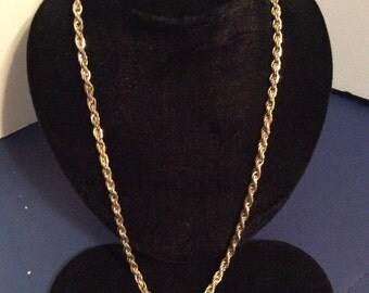Gold toned chain necklace 24 in