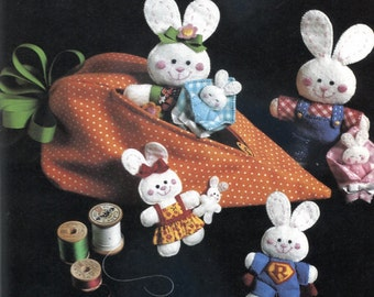 Bunny Family - Felt Toy Sewing Pattern