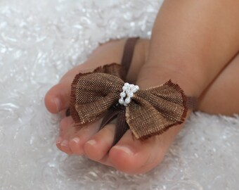 Brown Bow Sandals, Baby Barefoot Sandals, Barefoot Sandals Baby, Barefoot Sandals For Babies, Baby Shoes, Baby Shoes, Barefoot Baby Sandals