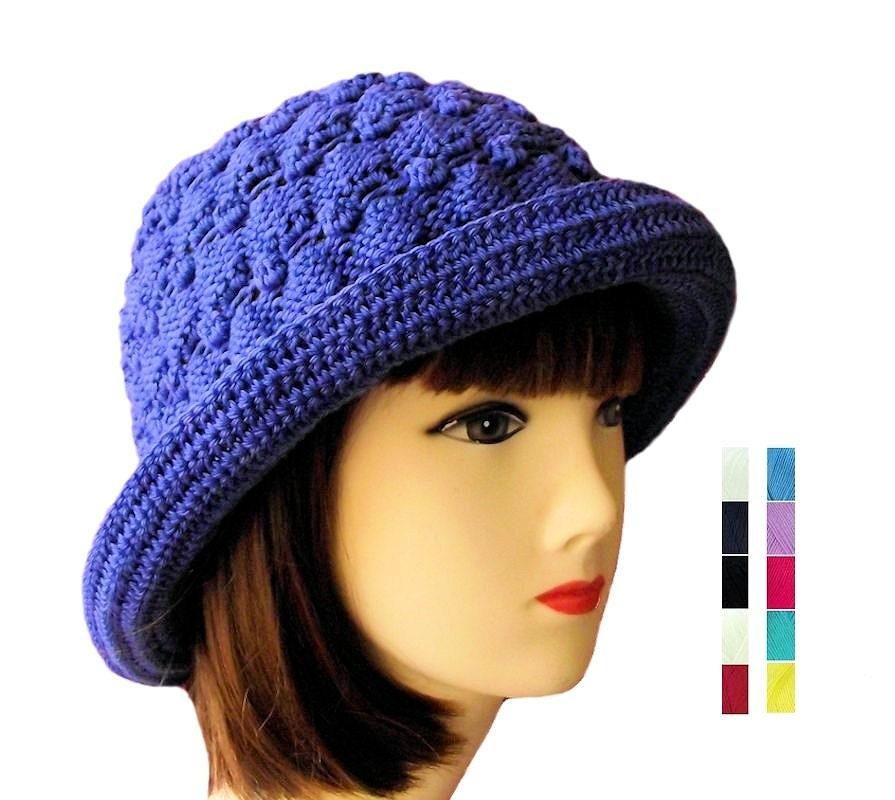 Knitting Women S Hats : Womens knit hat hand women s crochet