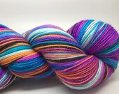 Kaleidoscope Handpainted 2 ply SPARKLE merino yarn- Black sand Sunset